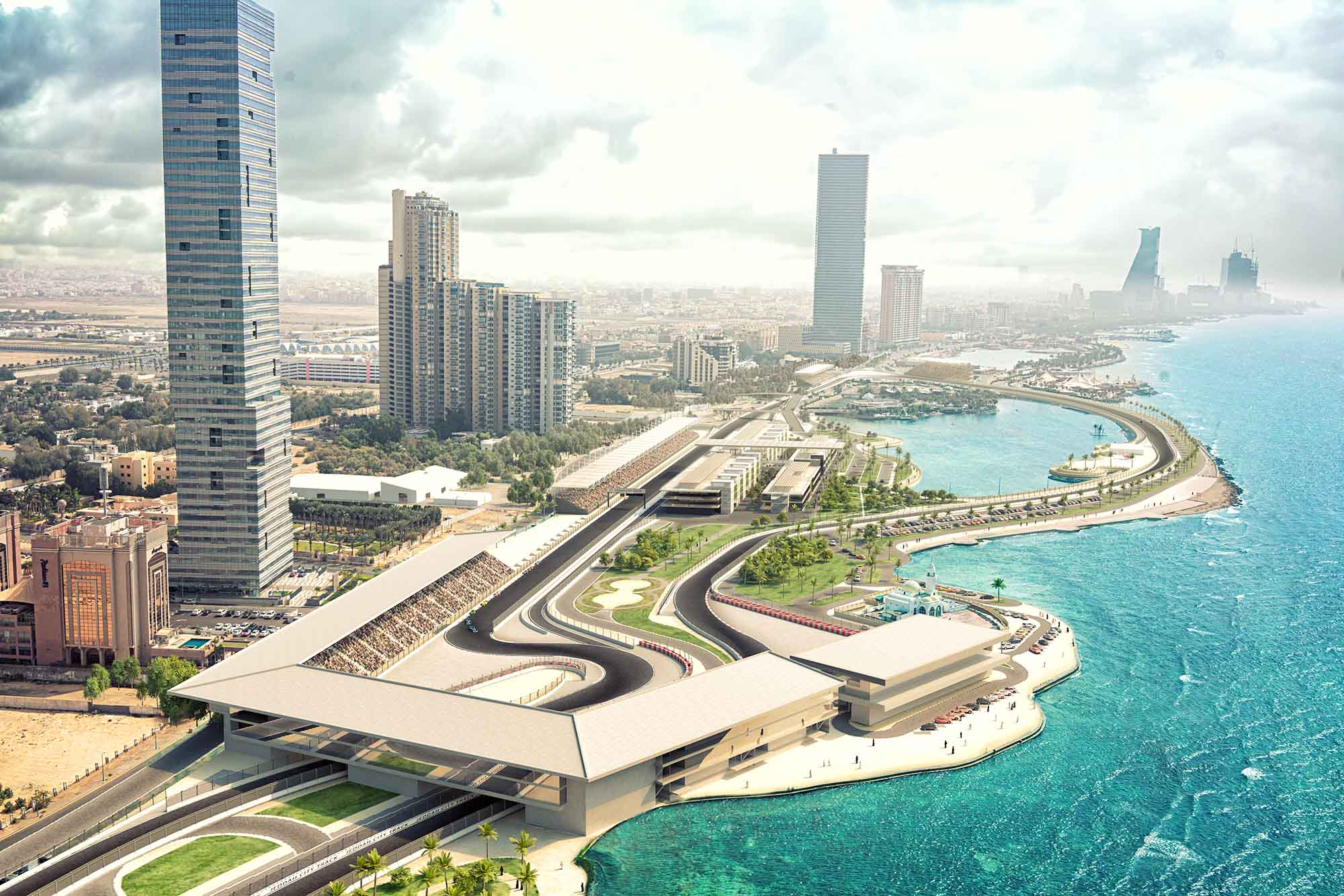 Saudi Arabian GP auf dem Jeddah  Street Circuit